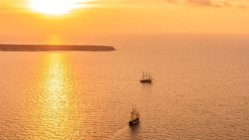 santorini sunset pictures